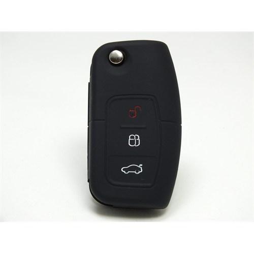 Gsk Ford Fiesta Kumanda Kabı Koruyucu Silikon Kılıf 3 Tuş