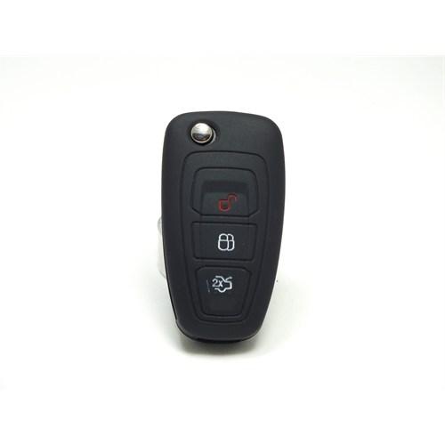 Gsk Ford Mondeo Kumanda Kabı Koruyucu Silikon Kılıf 3 Tuş