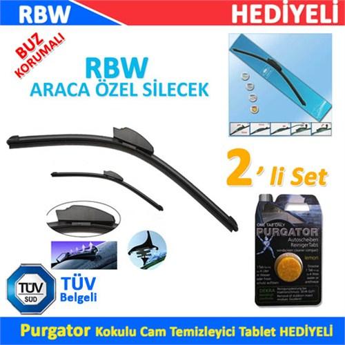 RBW PEUGEOT 407 Araca Özel Silecek Süpürgesi (SAĞ/SOL 2'li Set )