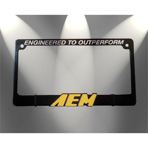 Z tech AEM Sarı Logo lu Kare Tip Spor Plakalık