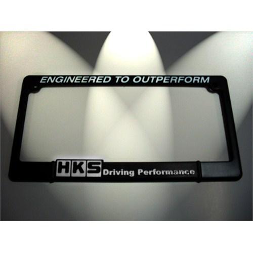 Z tech Hks Beyaz Logo lu Kare Tip Spor Plakalık