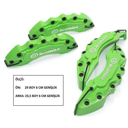 Brembo Kabartmalı Yeşil Ön-Arka Kaliper Kapak Seti 104364