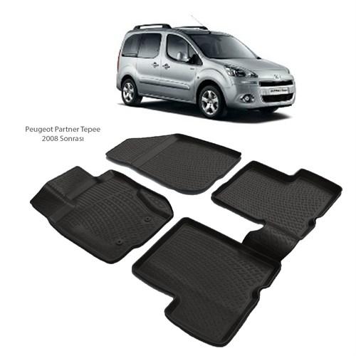 Peugeot Partner Tepee 3D Havuzlu Paspas (2008 Ve Sonrası)