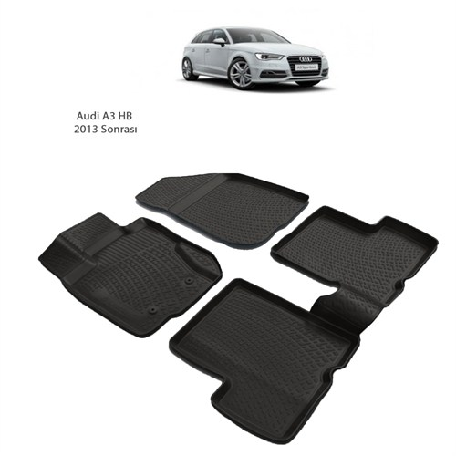 Audi A3 Hb (2013 Ve Sonrası) 3D Paspas