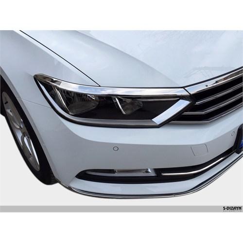 S-Dizayn Vw Passat B8 Krom Far Üzeri Çıta Seti 3 Prç. 2015 Ve Üzeri