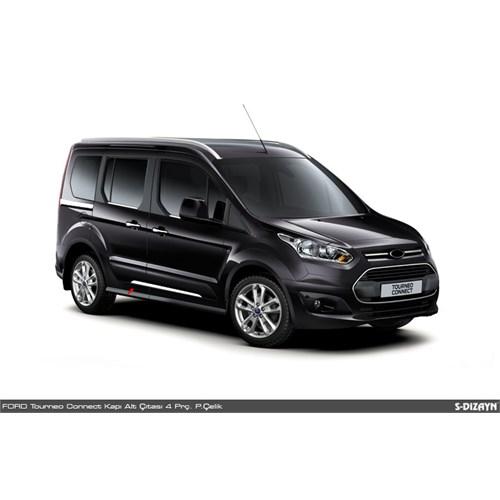 S-Dizayn Ford Connect Krom Yan Kapı Çıtası Altı 4 Prç. 2014 Üzeri