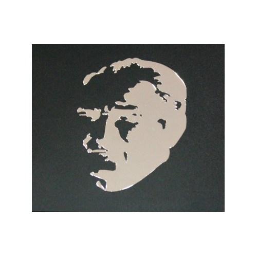 Schwer Atatürk Siluet Metal Stıcker