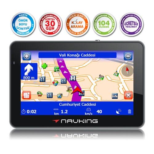 """Navking Maxi 5,0"""" Ekranlı, Bluetooth – FM Transmitter'lı Navigasyon Cihazı ( Ömür Boyu Ücretsiz Harita Güncelleme )"""