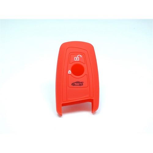 Gsk Bmw Kumanda Kabı Koruyucu Silikon Kılıf 3 Tuş (Kırmızı)