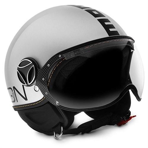 Momo Design Fgtr Evo Beyaz Quartz , Siyah Logo Large Kask