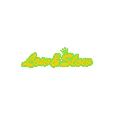 """Z tech """" Low&Slow """" Sarı Yeşil Sticker 19x5cm"""