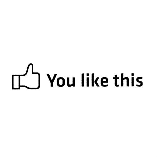 "Z tech "" You Like This "" Siyah Sticker 18x4 cm"