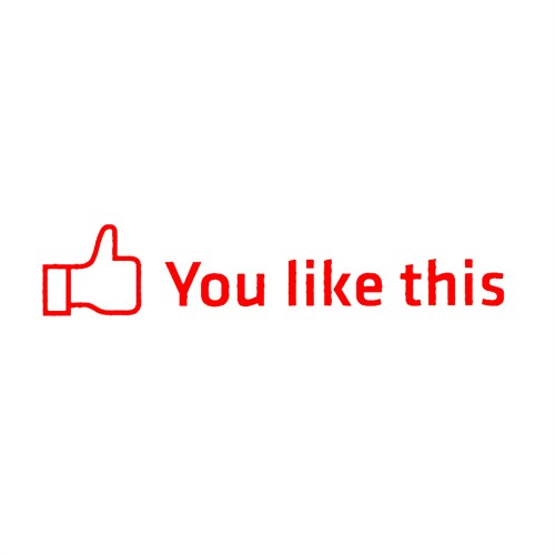 "Z tech "" You Like This "" Kırmızı Sticker 18x4 cm"