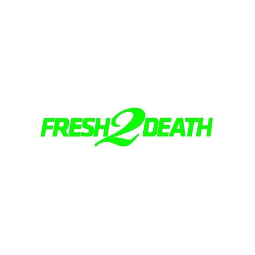 "Z tech "" Fresh 2 Death "" Yeşil Sticker 18x4 cm"