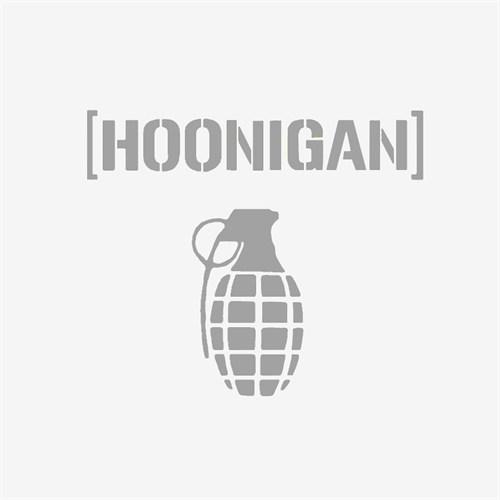 "Z tech "" Hoonigan "" Gri Sticker 12x11 cm"