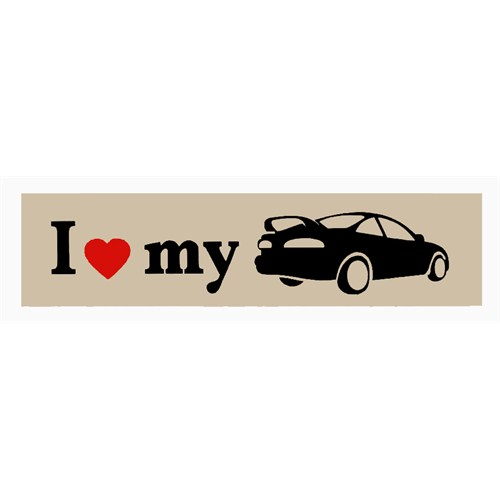 "Z tech "" I Love My "" Bej Siyah Sticker 15 x 4 cm"