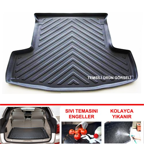 Fiat Yeni Doblo 5 Koltuk Koltuklu Van 2010 Sonrası 3D Bagaj Havuzu