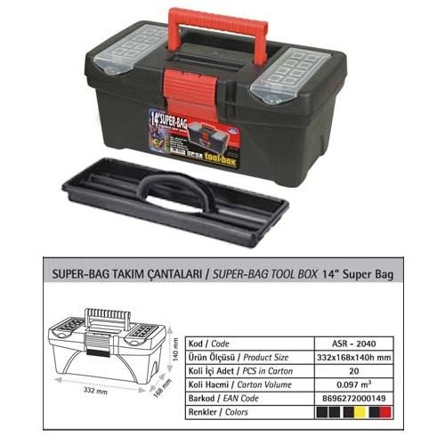 AutoCet 14 inç SUPER-BAG Boş Takım Çantası (Malzeme kutusu )