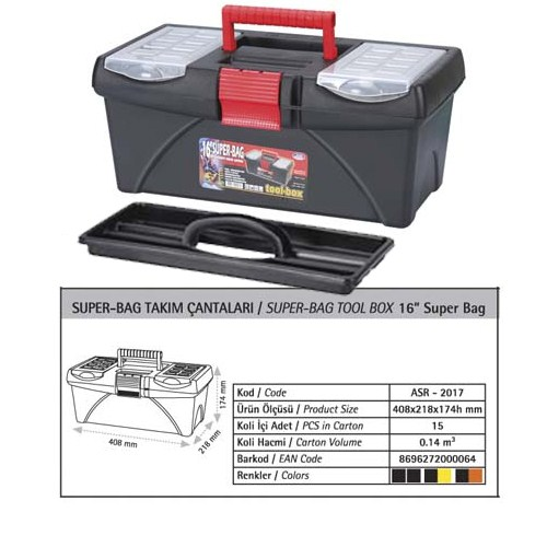 AutoCet 16 inç SUPER-BAG Boş Takım Çantası (Malzeme kutusu )