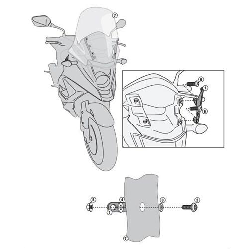 Kappa D1104kıt Honda Vfr 800X Crossrunner (11-14) Rüzgar Sıperlık Baglantısı