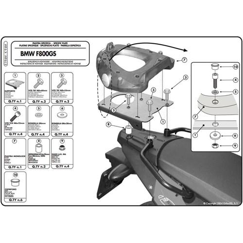 Gıvı E194m Bmw F 650 Gs - F 800 Gs (08-11) Arka Çanta Tasıyıcı