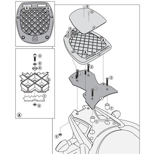Gıvı Sr3101m Suzukı Dl 650 V-Strom (11-15) Arka Çanta Tasıyıcı