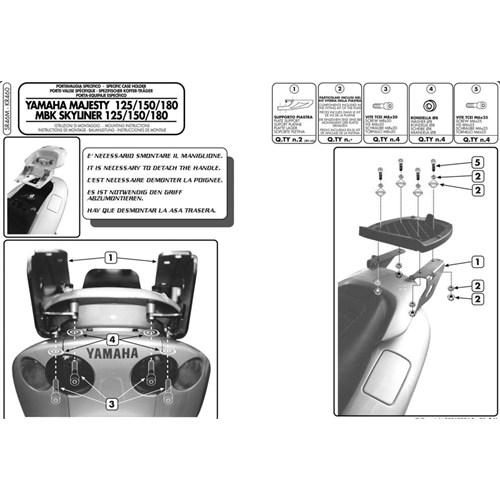 Gıvı Sr46m Yamaha Majesty 125-150-180 (01-11) Arka Çanta Tasıyıcı