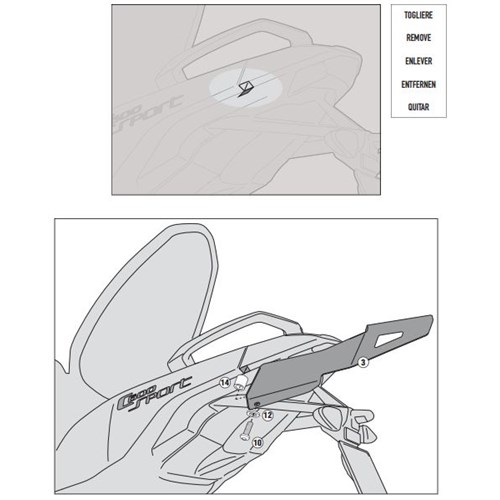Gıvı Sr5105m Bmw C 600 Sport (12-15) Arka Çanta Tasıyıcı