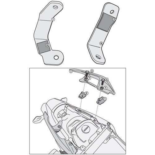 Gıvı 1127Kıt Honda Integra 750 (14-15) Yan Çanta Tasıyıcı Baglantı Kıtı