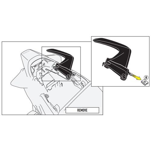 Gıvı 1132Kıt Honda Vfr 800 F (14-15) Yan Çanta Tasıyıcı Baglantı Kıtı