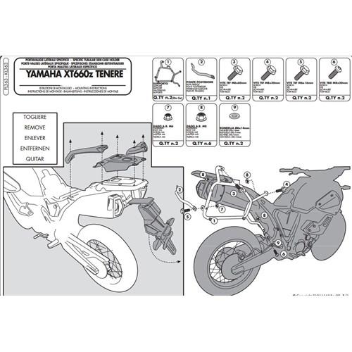 Kappa Kl363 Yamaha Xt 660Z Tenere (08-15) Yan Çanta Tasıyıcı