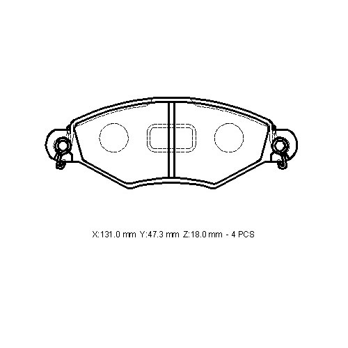 Peugeot 206- 99/09 Ön Fren Balatası