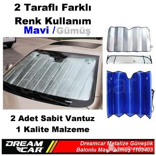 Dreamcar Mavi-Gümüş 1. Kalite Metalize Güneşlik Balonlu 60X130 Cm 1103403