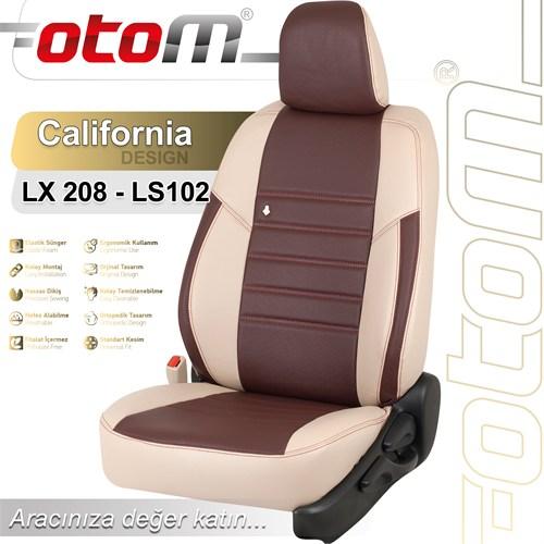 Otom Audı A4 2009-2013 California Design Araca Özel Deri Koltuk Kılıfı Bordo-103