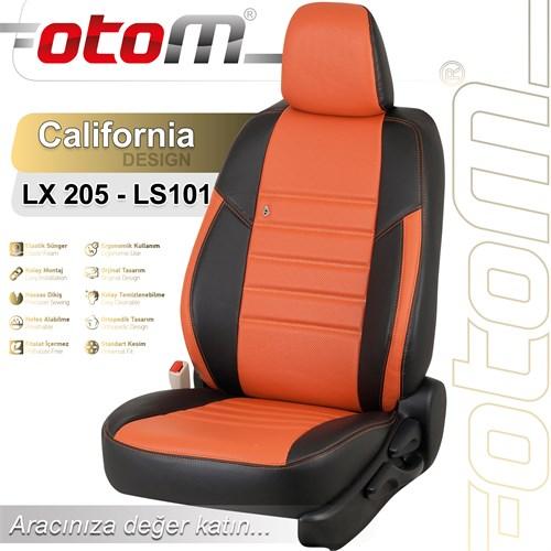 Otom Audı Q3 2012-Sonrası California Design Araca Özel Deri Koltuk Kılıfı Pişmiş Toprak-107