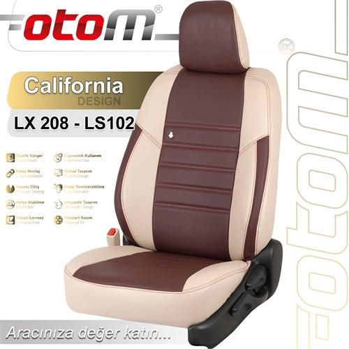 Otom Audı A4 2014-Sonrası California Design Araca Özel Deri Koltuk Kılıfı Bordo-103