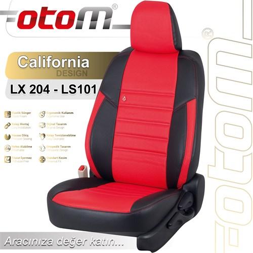 Otom Audı Q5 2015-Sonrası California Design Araca Özel Deri Koltuk Kılıfı Kırmızı-108