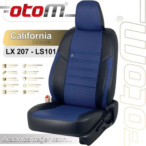 Otom Audı A1 2011-Sonrası California Design Araca Özel Deri Koltuk Kılıfı Mavi-102