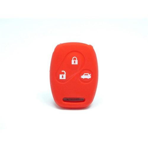 Gsk Honda Civic Anahtar Kabı Koruyucu Kılıf 3 Tuş ( Kırmızı )