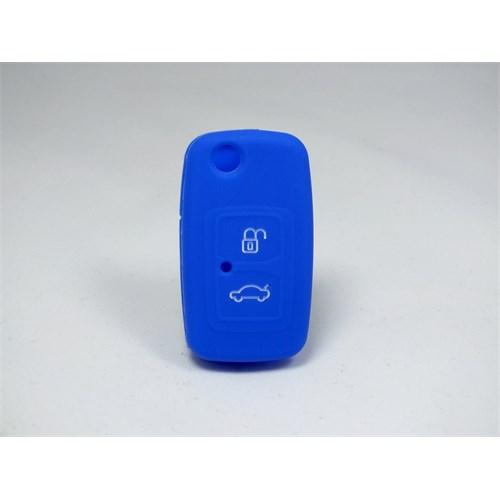 Chery Alia Kumanda Anahtar Kabı Koruyucu Kılıf 2 Tuş ( Mavi )