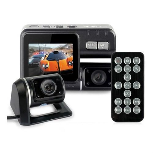Cyber Çift Kameralı Kumandalı Araç İçi Kamera