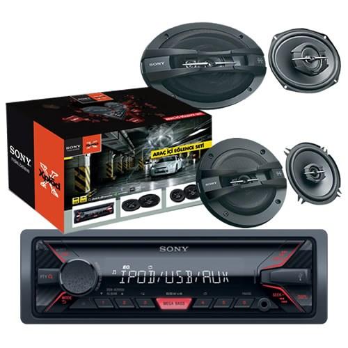 Sony STR-4013 usb Oto Teyp,13cm ve 6x9 Oval Hoparlör Oto Ses Sistem Seti