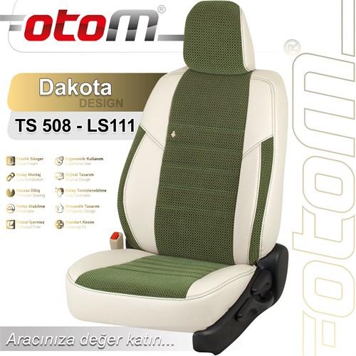 Otom Skoda Octavıa 2013-Sonrası Dakota Design Araca Özel Deri Koltuk Kılıfı Yeşil-101