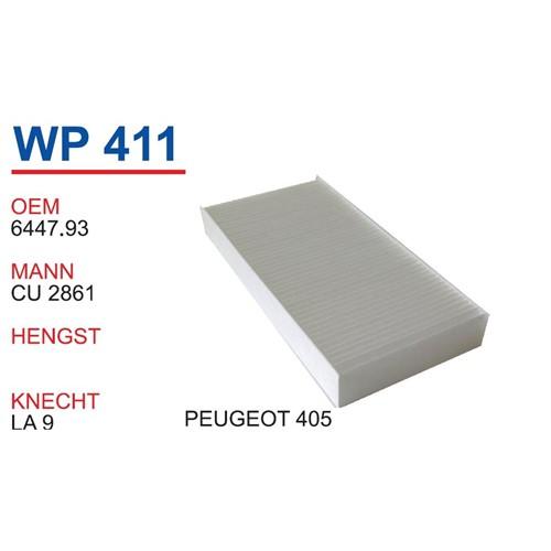 Wunder Peugeot 405 Polen Filtresi Oem No:6447.93