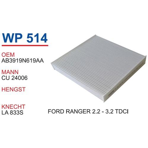 Wunder Ford Ranger 2.2 Ve 3.2 Tdcı Polen Filtresi Oem No:Ab3919n619aa
