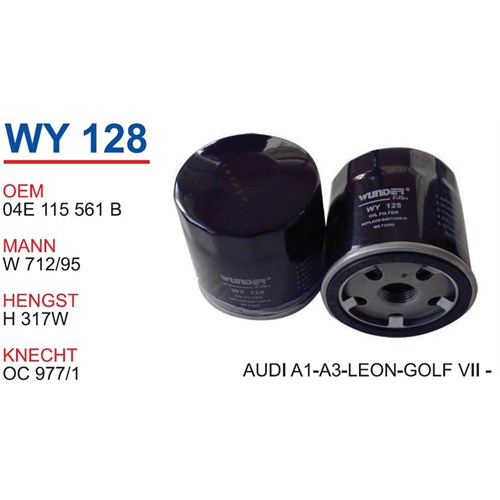 Wunder Vw Polo [6R] 1.2-1.4 Tfsı Yağ Filtresi Oem No:04E115561b