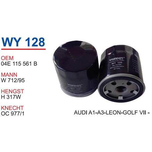 Wunder Seat Leon 1.2-1.4 Tfsı Yağ Filtresi Oem No:04E115561b
