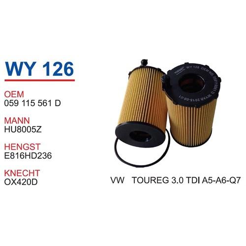 Wunder Audı Q7 3.0 Tdı Yağ Filtresi Oem No:059115561D