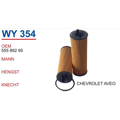 Wunder Chevrolet Aveo Yağ Filtresi Oem No:55589295