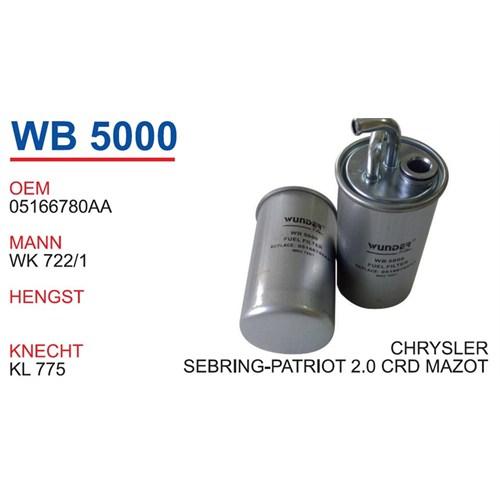 Wunder Jeep Patriot 2.0 Crd Mazot Filtresi Oem No:05166780Aa